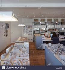 Open Floor Plan Office by Open Plan Office With Building Models And Staff At Work Dsdha