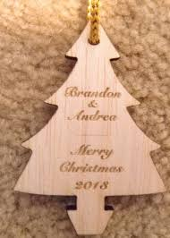 wood ornament personalized customized laser engraved
