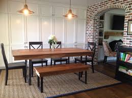 rustic industrial dining table u2013 wooden whale workshop