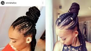 how to jumbo braids half up half down ghana braids feed in
