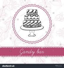 hand drawn wedding candy bar frame stock vector 335979674