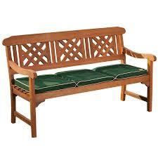 robert dyas fsc 3 seater wooden garden bench and cushion from