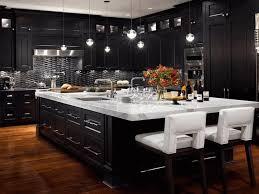 Black Cabinet Kitchen Black Cabinet Kitchens Large Green Open Shelves Wooden Ceiling