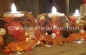 Brown Vase Fillers Fall Thanksgiving Orange Burgundy Pearls U0026 Pumpkin Gems Accents