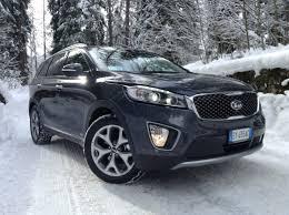 new kia sorento 2015 first snow test drive only sound youtube