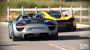 porsche mclaren p1 laferrari vs mclaren p1 vs porsche 918 group review round up youtube