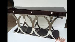 Iron Sofa Table by Stainless Console Table Youtube