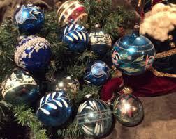 German Glass Christmas Tree Decorations by Blue Uranium Glass Etsy