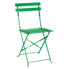 Metal Folding Bistro Chairs Parc 2 Seat Green Metal Folding Bistro Table And Chairs Set Buy