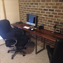 Computer Desk With Built In Computer by Handmade Black Walnut And Steel Built In Desk By Dc Woodworks And