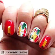 lacquered lawyer nail art blog abstract christmas