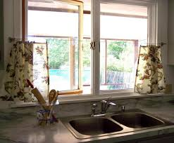 kitchen curtain ideas for bay window kitchen window treatments