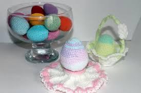 Easter Decorations Crochet by Crochet Easter Eggeaster Basketcrochet Easter Egg