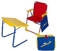 Folding Childrens Table And Chairs Table Mate Children S Table Chair W Activity Storage Pouch