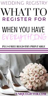 wedding registries with free gifts weddings what to register for if you everything free printable