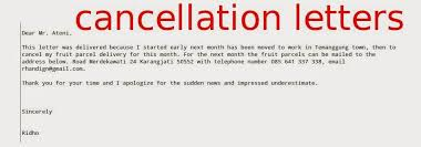 notice of cancellation letter insurance cancellation letter