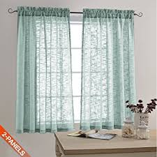 3 Inch Rod Pocket Sheer Curtains Amazon Com Faux Linen Textured Sheer Curtains Rod Pocket Drapes