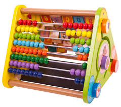 big jigs triangular activity centre wooden toys for children