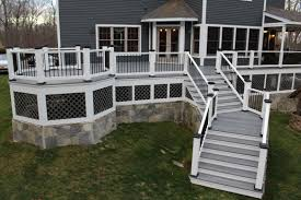 composite decks and railings best in backyards