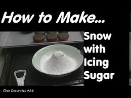 how to make snow with icing sugar chox decorates cakes 26 youtube