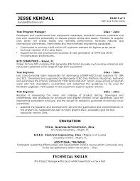 Electronic Resume Example by Free Test Engineer Resume Example
