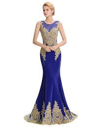 mermaid bridesmaid dresses long gold appliques white red black