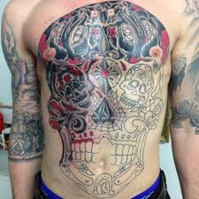 chest and stomach tattoos chest and stomach outline