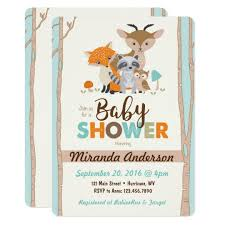 woodland baby shower invitations woodland baby shower invitation zazzle