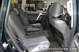 toyota land cruiser prado 2018 toyota land cruiser prado facelift rear seats at iaa 2017