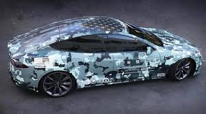 tesla model s tesla honored veterans on memorial day with custom wrapped model s