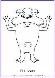 lorax coloring page dr seuss pinterest lorax earth and