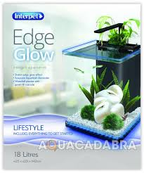 interpet edge glow 18l aquarium auto led lighting waterfall