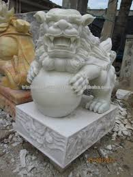 fu dog statues fu dog statue lion white marble carved for home