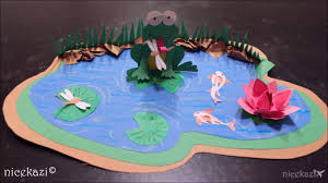 kids crafts paper pond youtube