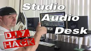 diy hacks youtube studio desk ikea diy audio hack youtube workstation music furniture