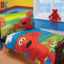 sesame abc 123 4 toddler bedding set reviews wayfair