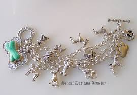 solid sterling silver charm bracelet images Schaef designs turquoise dog bone westminster dog show sterling jpg