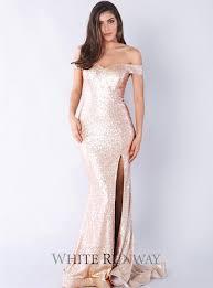 jadore dresses shoulder sequin gown by jadore