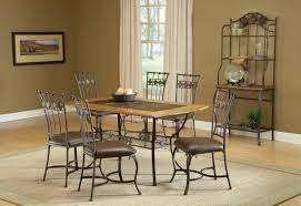 hillsdale lakeview rectangle dining set with slate accent chairs