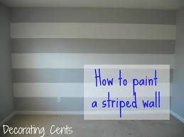 painting stripes on a wall want to do the semi gloss and gloss in