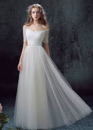 tulle wedding dress light weight tulle sheath wedding dress with sleeves the