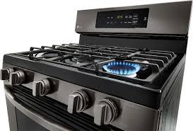 lg 5 4 cu ft freestanding gas range black lrg3061bd best buy