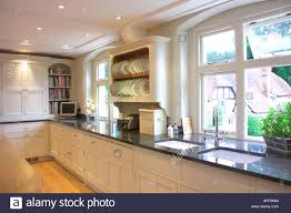 Contemporary Galley Kitchens Black Worktops Stock Photos U0026 Black Worktops Stock Images Alamy