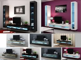 Wall Mounted Living Room Furniture Displaying Photos Of Led Tv Cabinets View 5 Of 20 Photos