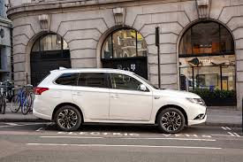 mitsubishi white images mitsubishi 2015 outlander phev white cars side
