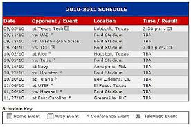 mustang football schedule smu mustang football schedule for 2010 announced smu