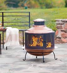 Paint For Chiminea Recycled Turkish Copper Firepit Chimenea Combo With Extra Deep