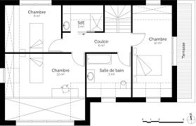 plan maison 4 chambres etage luxe plan maison 4 chambres etage ravizh com