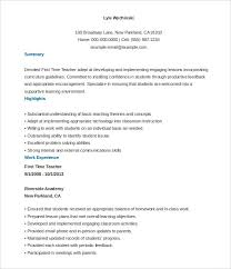 Resume Example Format teacher resume template 2017 jennywashere com