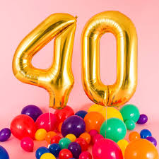 deliver balloons cheap happy 40th birthday balloons by bubblegum balloons